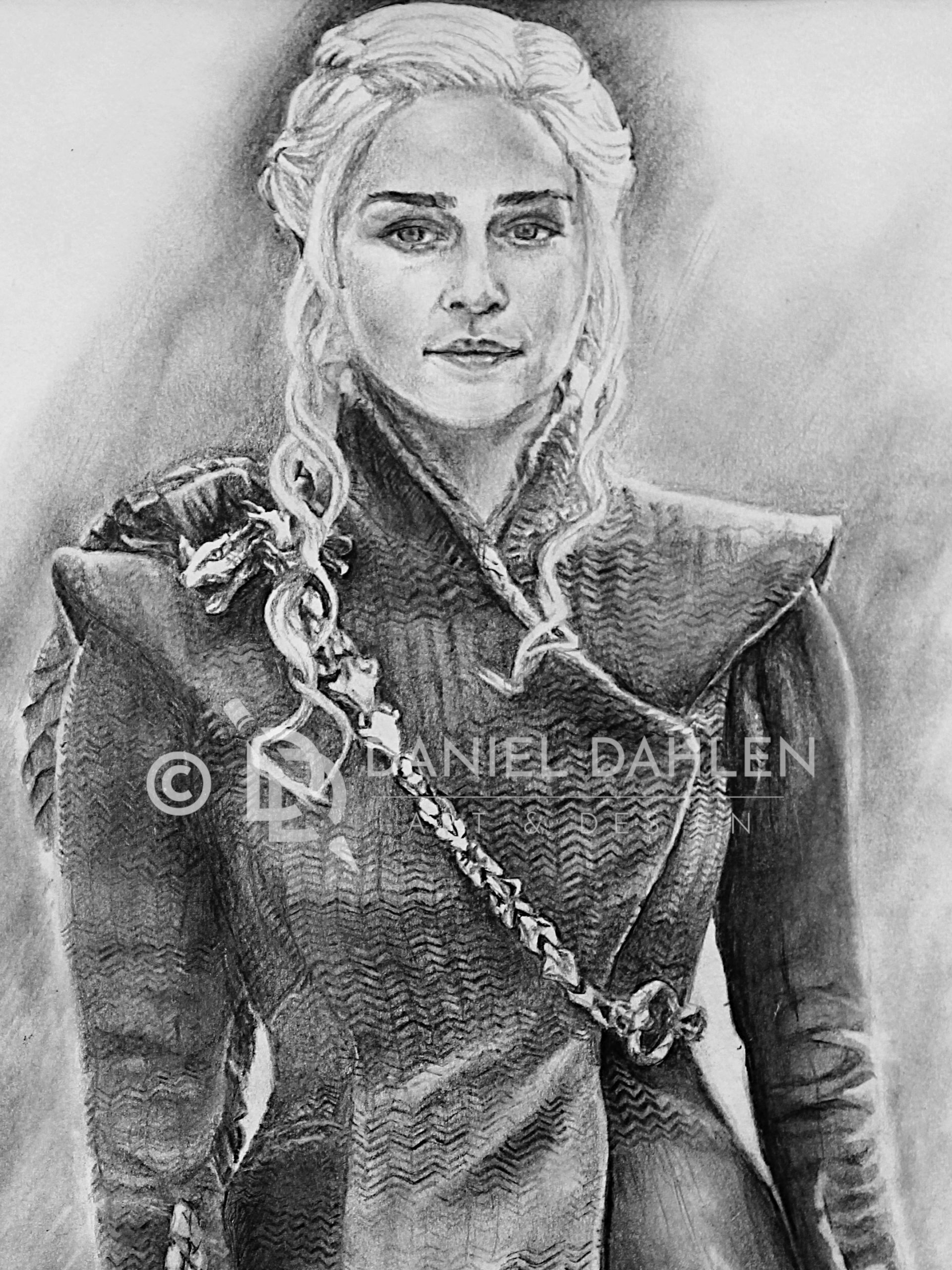 Stormborn Hand Drawn Graphite Drawing