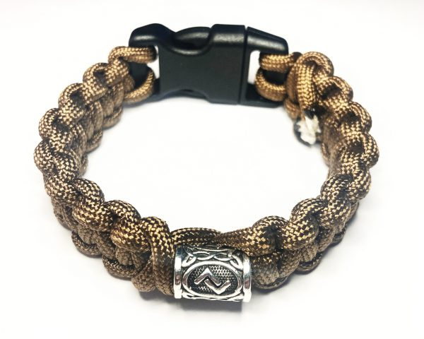 JERA HARVEST RUNE PARACORD BRACELET BROWN